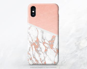 iPhone X Case iPhone 8 Case iPhone 7 Case Blush Marble Texture iPhone 7 Plus Case iPhone SE Case Samsung S8 Plus Case ( Not Real Gold ) I17