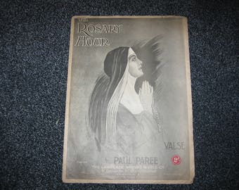 Vintage Sheet Music - The Rosary Hour