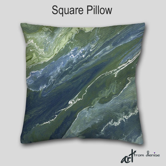 Throw Pillows For Sage Green Couch : Navy blue Abstract Throw pillow Sage green Olive