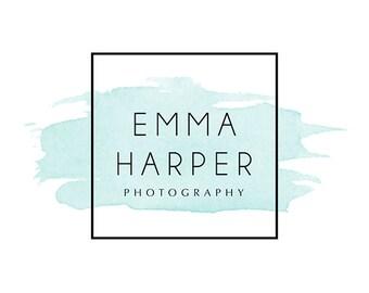 Pre-made Logo Design & Photography Watermark - Square Logo Template - Youtube Header - Blog Header - Watermark Design - Watercolor Logo 836
