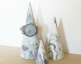Marble Jewellery Cone Set
