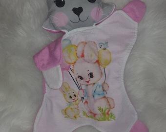 Vintage bunny Tilly Kitty cat comforter -SALE