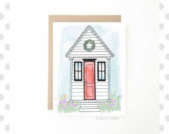 Tiny House Greeting Card - Just Because - New Home - Moving Card - Blank Inside - Recycled Paper