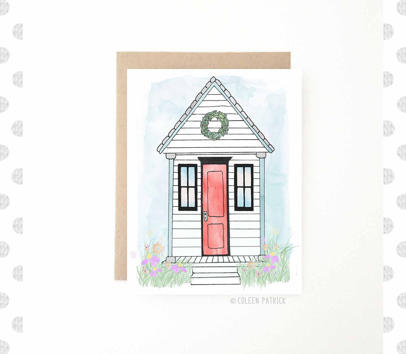 Tiny house greeting card just because new home moving description tiny house greeting card kristyandbryce Gallery