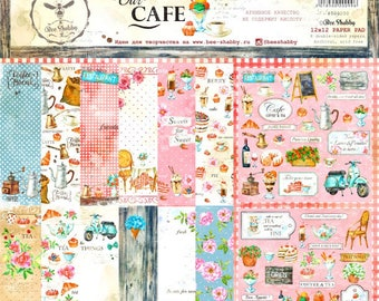 Scrapbooking paper pad  30 cm \12x12 recipe books cafe sweeties