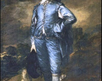 "11 x 14"" canvas art print~ The Blue Boy, by Thomas Gainsborough in 1770.  This is a Portrait of Jonathan Buttall ."
