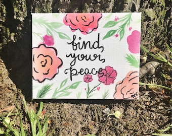 Find Your Peace, canvas