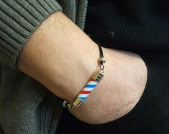 Barber Pole Friendship Bracelet For Man. Barber Pole Knot Bracelet