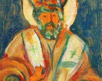 Realist oil painting king portrait