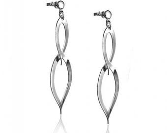 Sterling Silver Earrings with Double Hoops