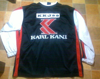 KARL KANI t-shirt vintage jersey 90s hip-hop clothing, 1990s hip hop shirt, OG, gangsta rap, old-school hip hop size M Medium