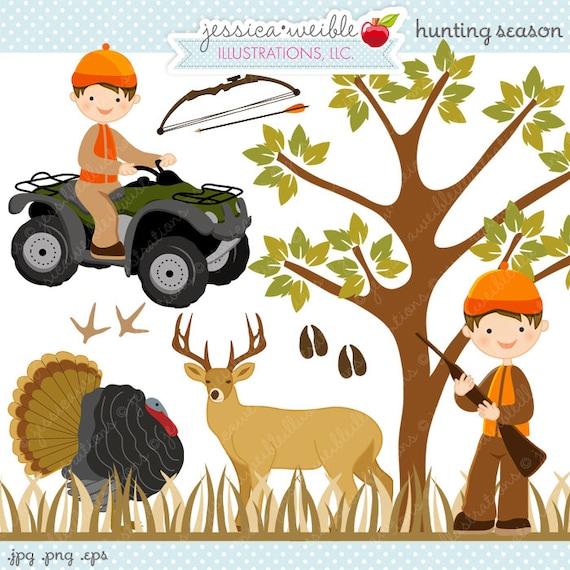 Hunting Season Cute Digital Clipart Commercial Use OK
