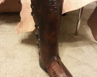 Starship Captain Leather Boot Covers