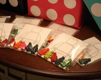TOP SELLER - lego man inspired crayons and coloring sheet party favors bulk lot // stocking stuffer // birthday favors // lego party favor