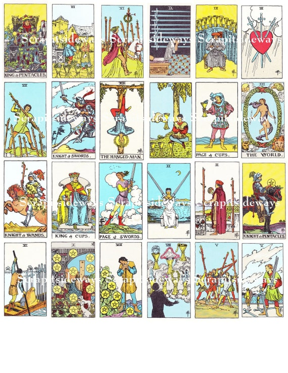 Transformative image in printable tarot cards