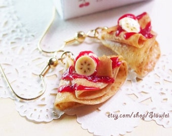 Food Jewelry - Crepe Earrings