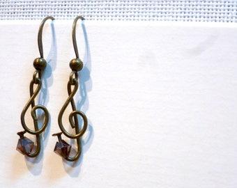 nothin' but treble (clef) earrings