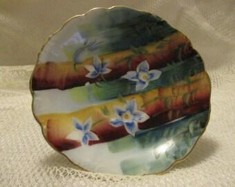 Vintage Hand Painted Japan flower teacup saucer