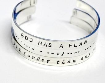 Sterling Silver Bracelet. Personalize Bracelet. Silver Cuff. Inspiration. Custom Bracelet. Name Cuff. Stack Bracelet. Stamped Customized.