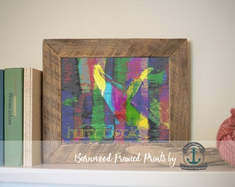Humpback Whale Rainbow - Reclaimed Barnwood Framed Print - Ready to Hang - Sizes at Dropdown