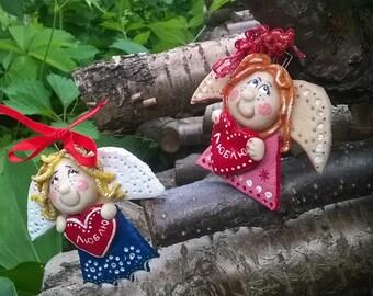 Angel Pendant Wedding Valentine's Day Gift Salt Dough Home Decor