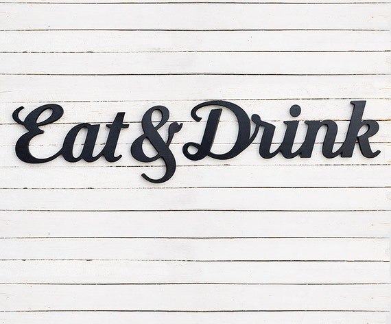 Decorative Wooden Kitchen Signs Eat And Drink Signs Kitchen Signs Kitchen  Wall Decor Bar 74