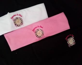 Embroidered Bandana - Detection In Time: Breast Cancer Awareness