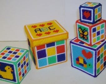 STACKING & NESTING BLOCKS - Toy for Toddler - Jingle Bell - Learning - Educational - Handmade