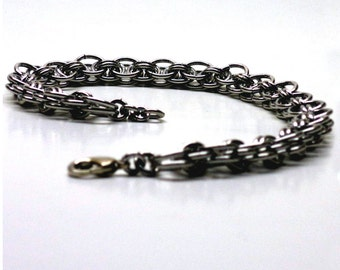 Helm's Chain Chainmaille Bracelet, SCA Bracelet, SCA Jewelry, Renaissance Jewelry Chain Mail RenFaire Ren Faire