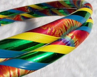 The 'HAPPY HIPPIE' - The OriGiNaL Tie Dye Travel Hula Hoop. Pro Hoops at Great Prices.