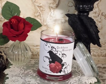 8.oz Morrigan Candle, Morrigan, Dark Goddess Candles, The Phantom Queen, Mare-Queen