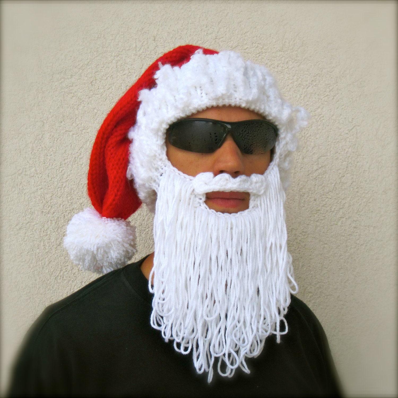 Santa beard hat The Original Beard Beanie™ holiday long beard