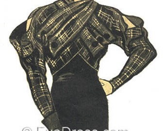 1933 Katharine Hepburn Jacket EvaDress Pattern