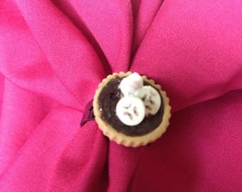 Chocolate Banana Tart Ring