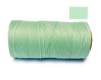 Bracelet Cord - Macrame Cord - Waxed Cord - Polyester Cord - Spool of 188 yards - MINT