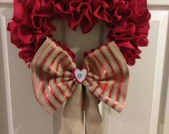 Valentine Welcome Door Wall Wreath