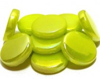 18mm Round Gloss - Lime Green Pearlised - 50g