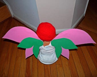 Pink and Green Lightweight Faerie Wings