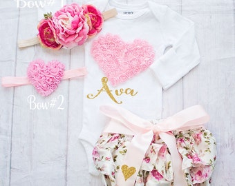 Valentines Day Outfit-Baby Valentines Day Shirt- Be Mine- My First Valentines