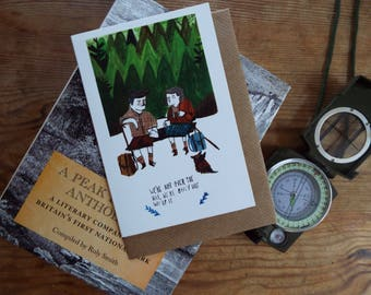 NEW// Half way up the hill greetings card