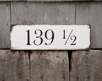 Custom House number sign hand-painted distressed on reclaimed barn wood MADE 2 ORDER