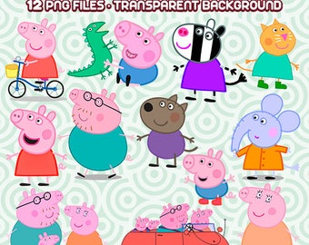 Peppa Pig Clipart, Peppa Pig Birthday,  Peppa PNG, Peppa Pig Party, George Pig, Peppa Pig Images,   Instant Download 78