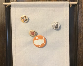 Blank canvas banner pin collection badges or patches to make it special