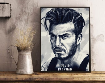 David Beckham digital download,wall art,poster,printable file