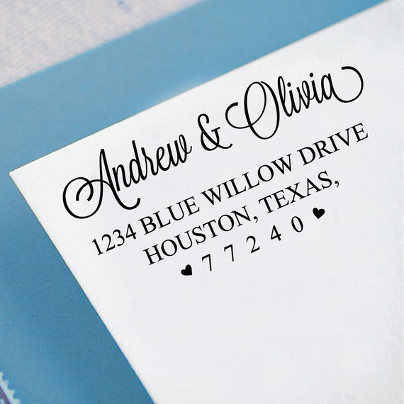 Custom Wedding Invitation Stamp Custom Return Address Stamp