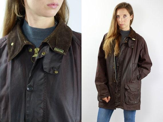 Barbour Jacket Barbour Coat Vintage Wax Jacket Vintage Wax Coat Barbour Bedale Coat Barbour Bedale Jacket Brown Barbour Coat Brown Barbour