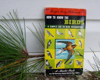 Bird GUIDE (Peterson) Watching Recognition Ornithology 1952 Paperback MANUAL 400 Illustrations Natural History Home School (MR2)