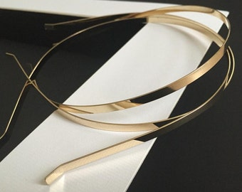5pc..5mm Gold Plated Metal(Steel) Headband w/ Bent Ends