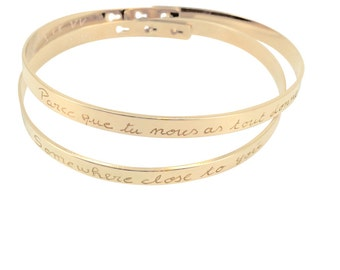 Wife tape duo gold plated bangles