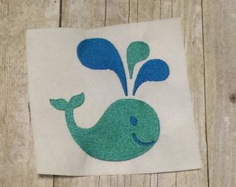 Whale Emboridery Design, Whale Applique